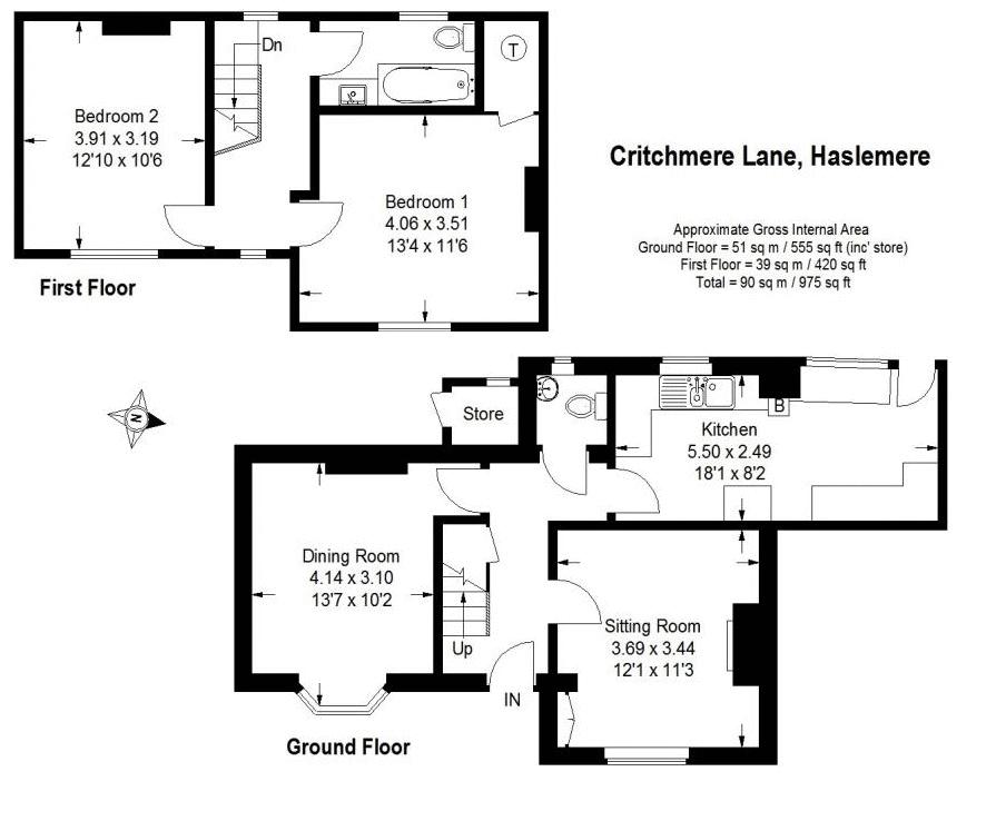 Critchmere lane haslemere warren powell richards for 16 brookers lane floor plans