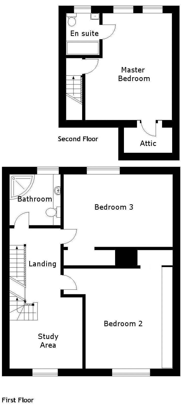 Upper floors
