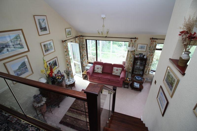 Looking Down At Living Room