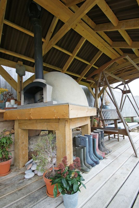 The pizza oven!