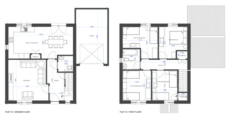 plan with dimensions