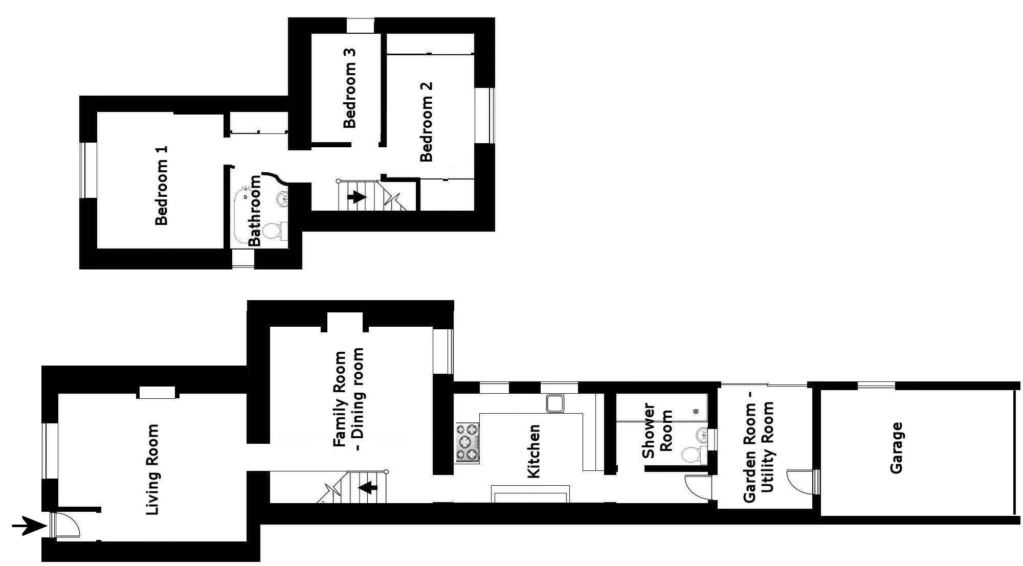 Floor plan with garage