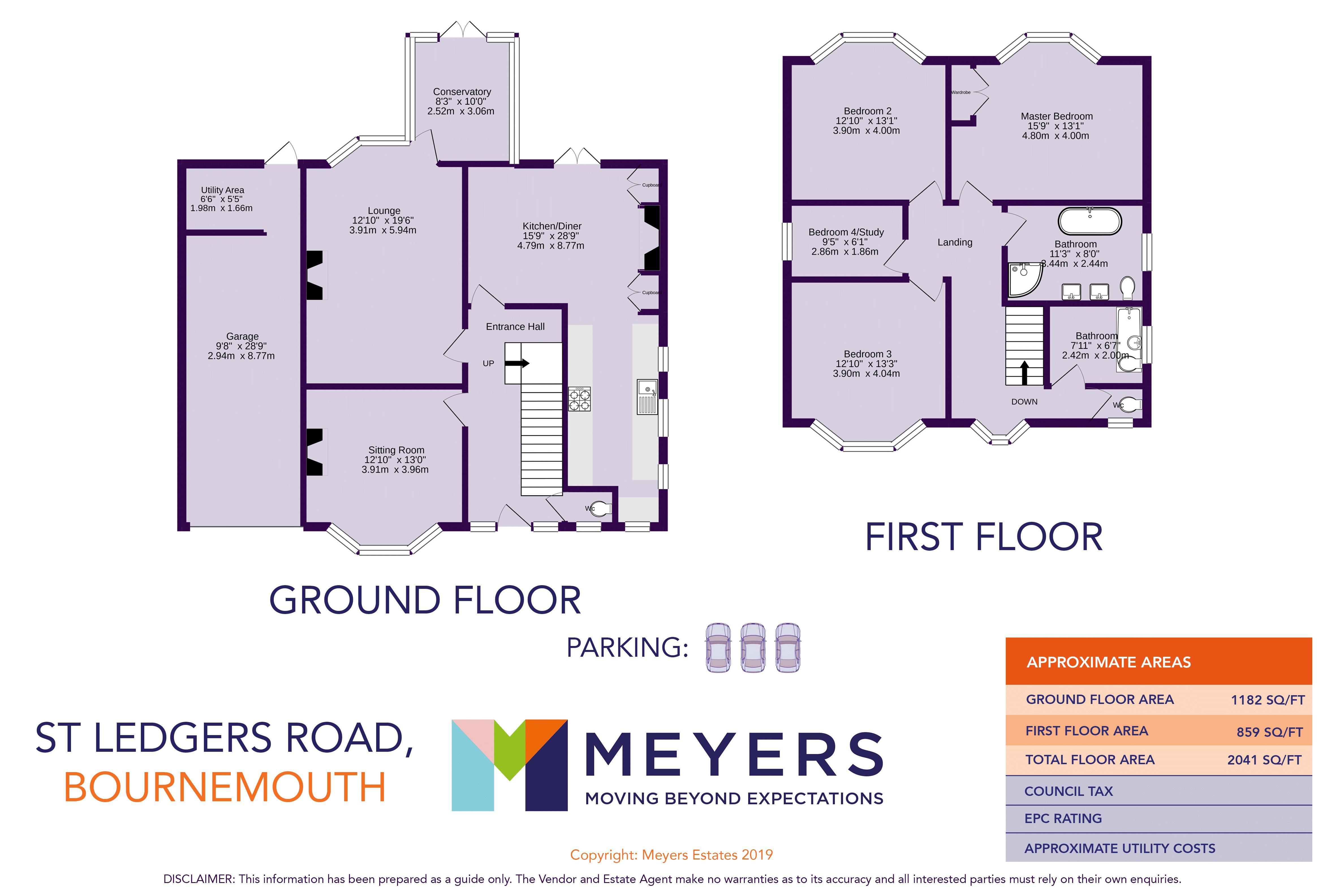 Colour floorplan