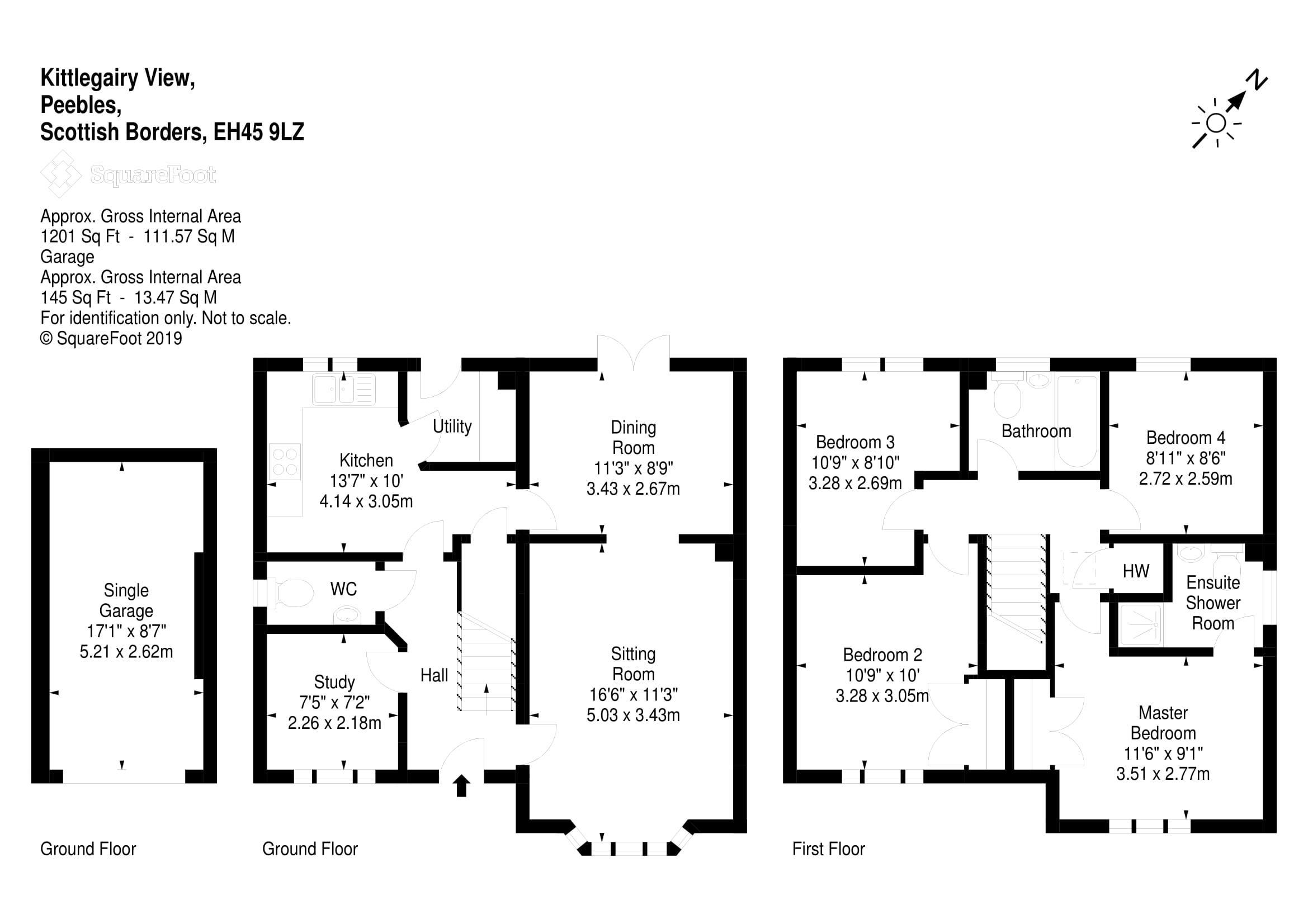 Floor Plan - 9 Kittlegairy View, Peebles