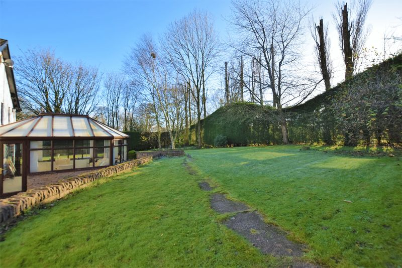 extensive rear garden