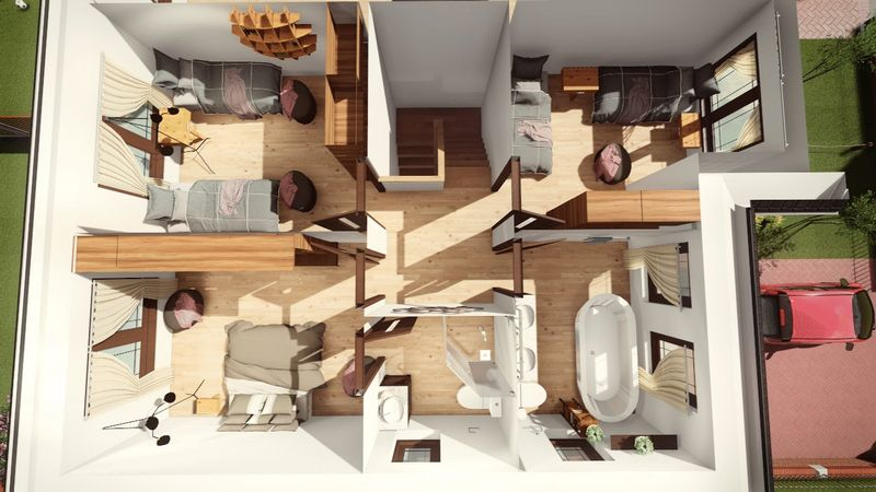3D Floorplan First Floor