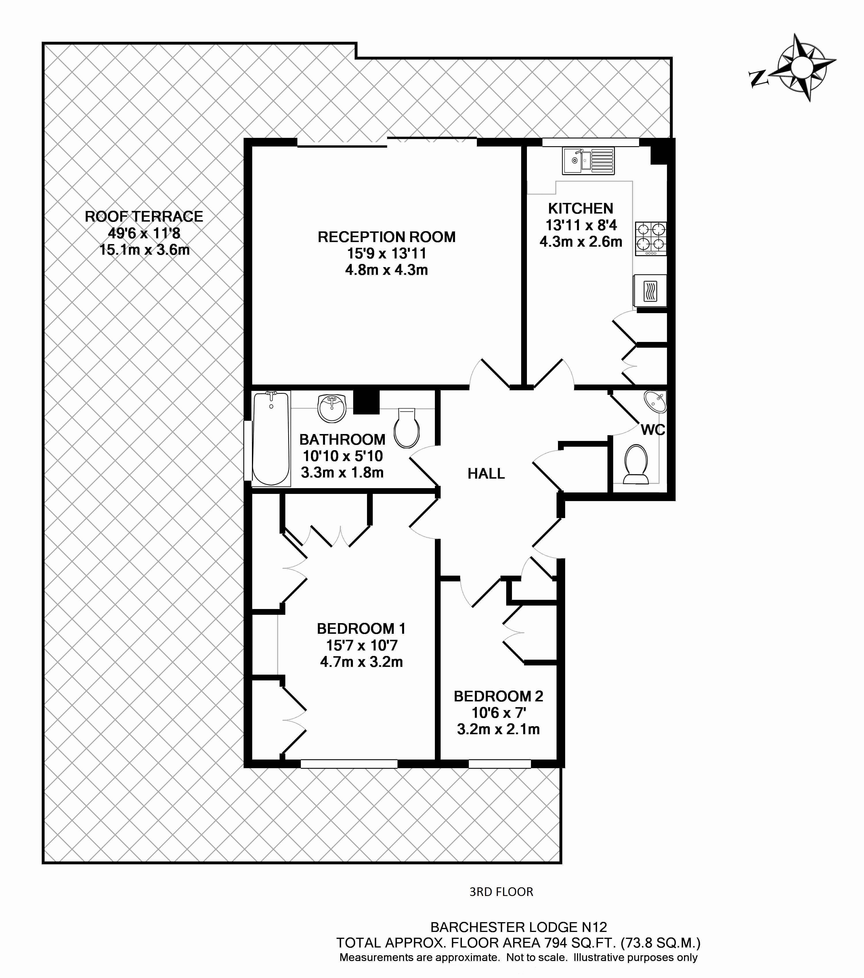 14 Barchester Lodge - Floorplan