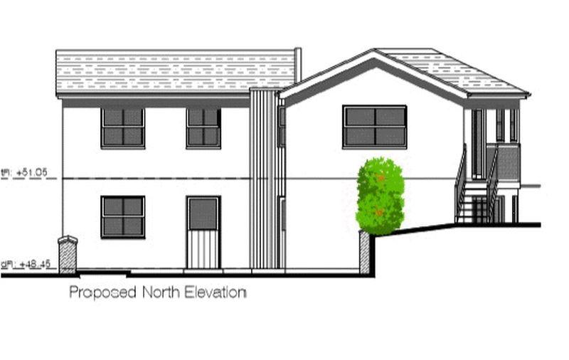 proposed north elevation
