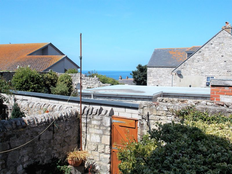 Courtyard & Distant Sea View