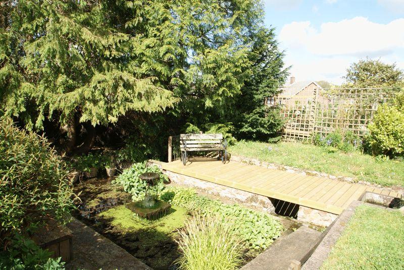 Sunken garden and pond