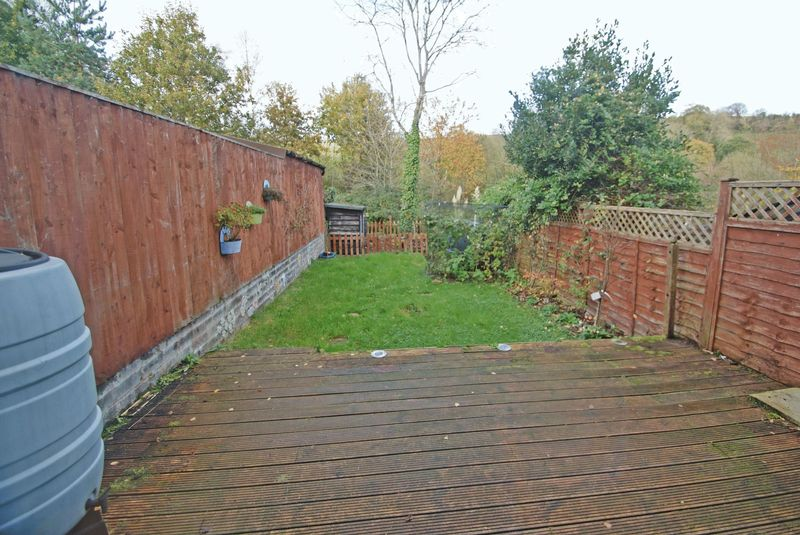 Over decking towards garden