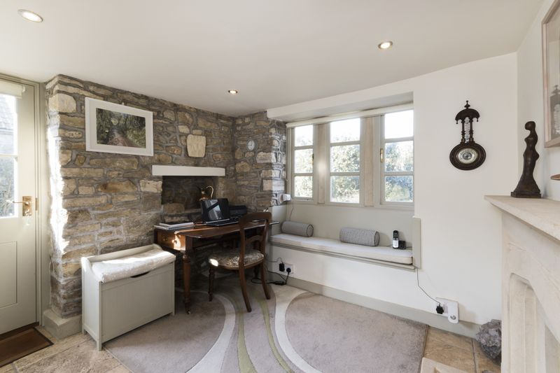 Entrance Hall with Stone Fireplace