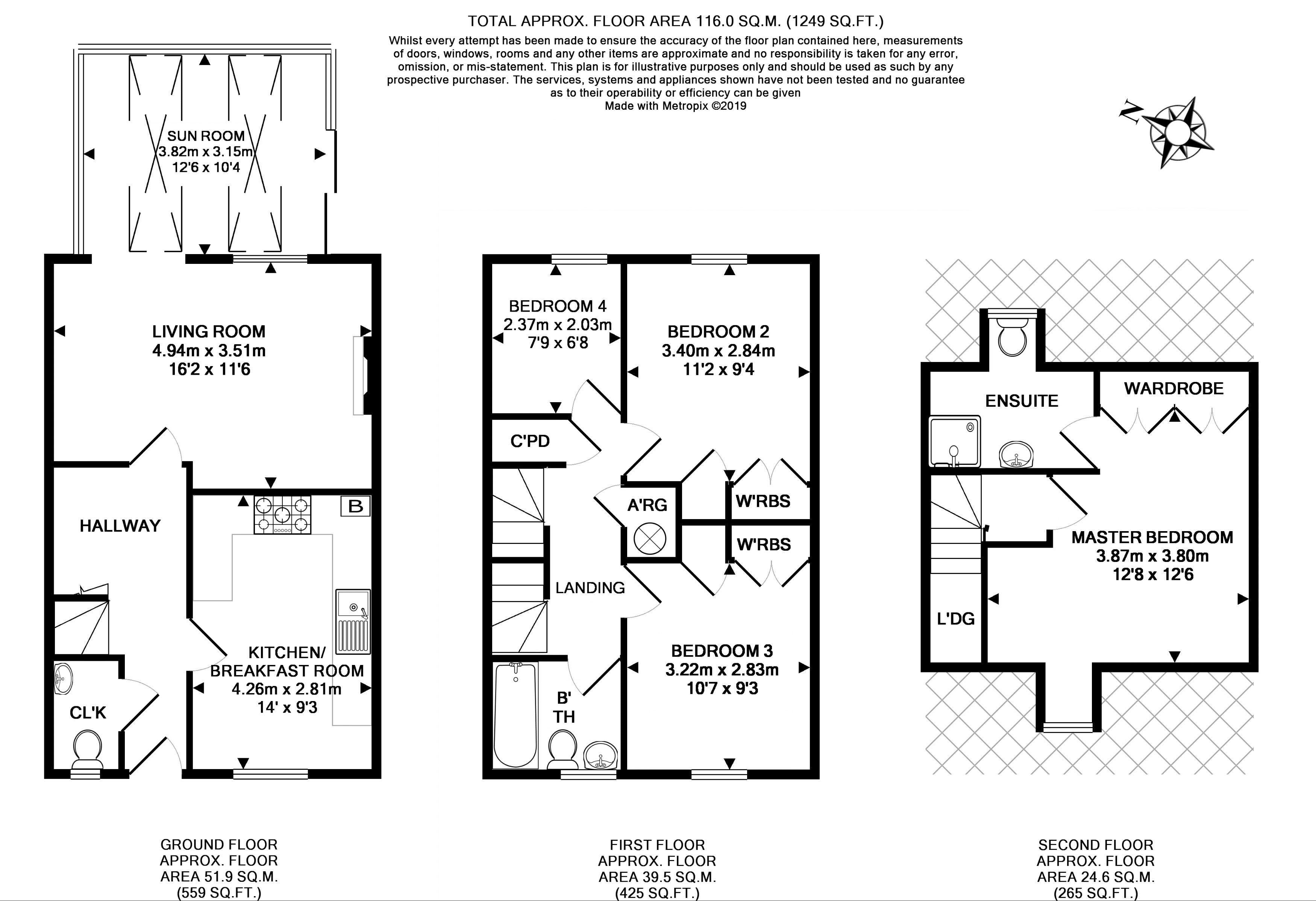 11 Tiddy Close Floorplan