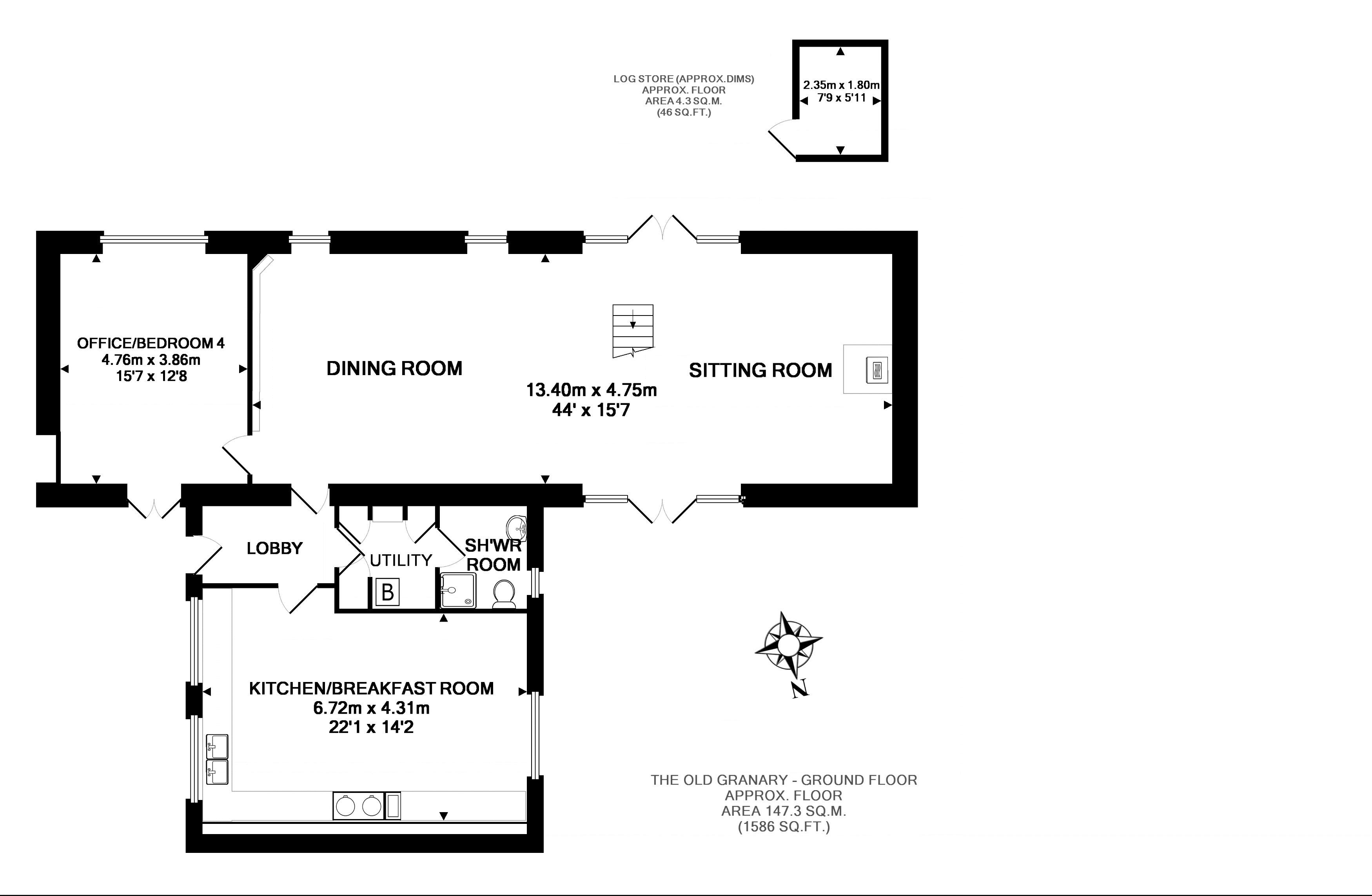 FLOORPLAN: The Old Granary - Ground Floor