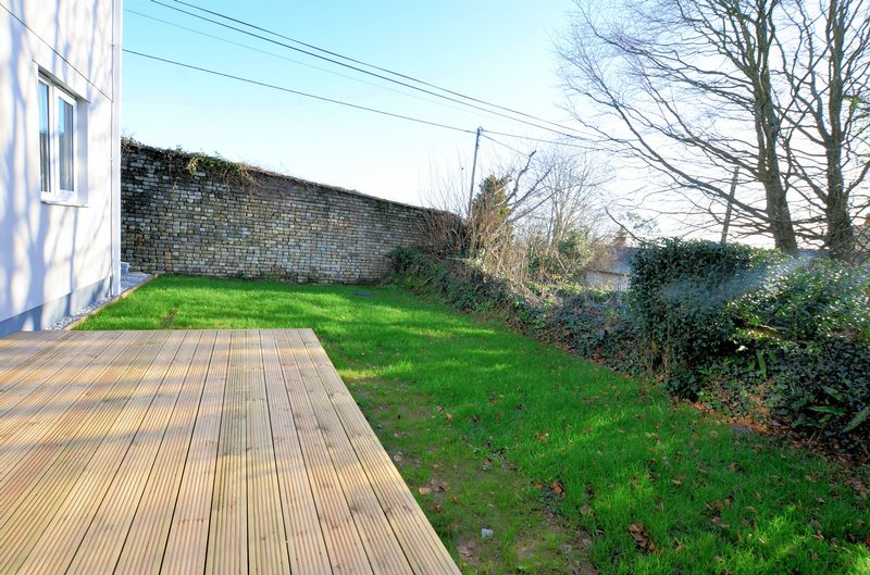 Rear Garden with Feature Stone Wall