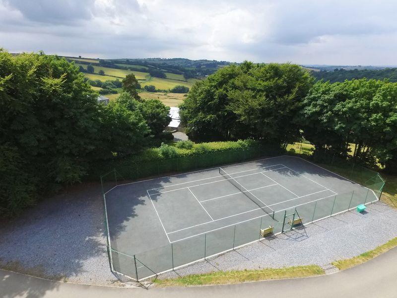 Tennis Court Aerial Photo