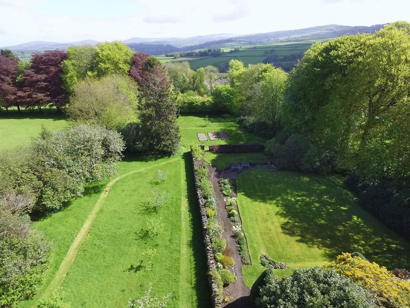 View of the Garden & Dartmoor in the Distance