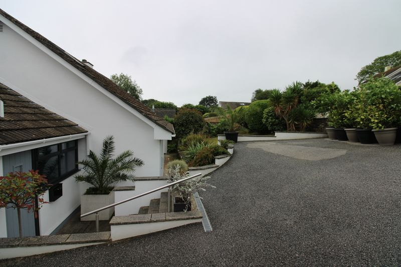 Driveway with ample parking