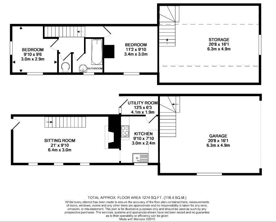Detached Cottage Floor Plan