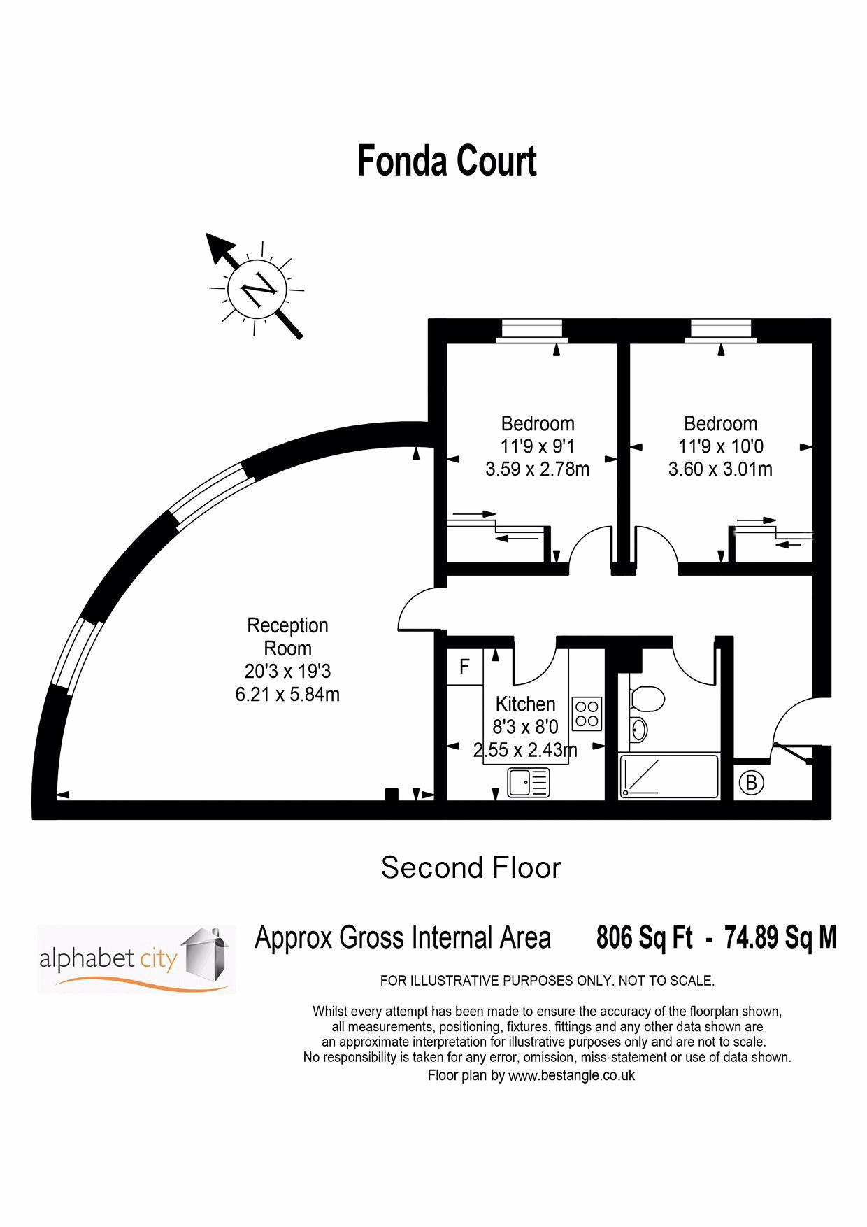 Floor Plan - Fonda - For illustration purposes onl