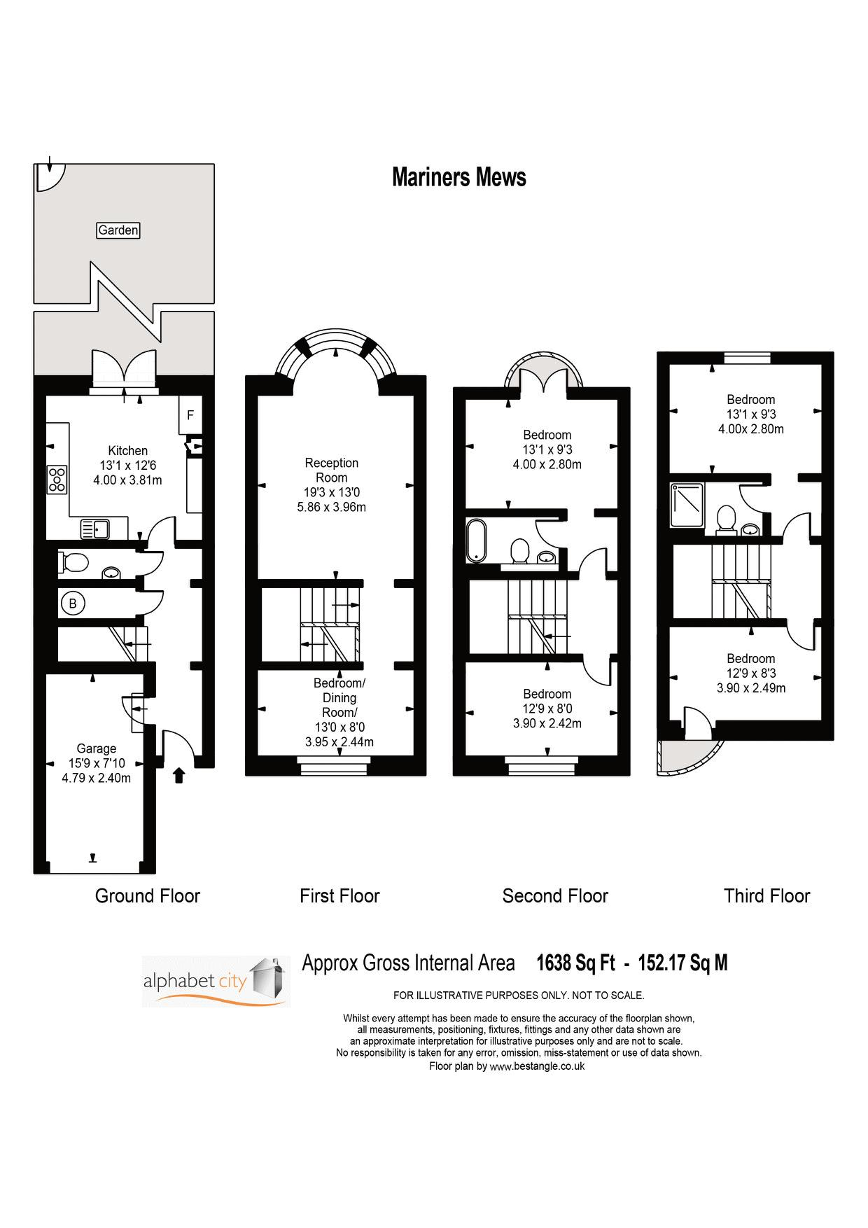 Floor Plan - Mariners - For illustration purposes