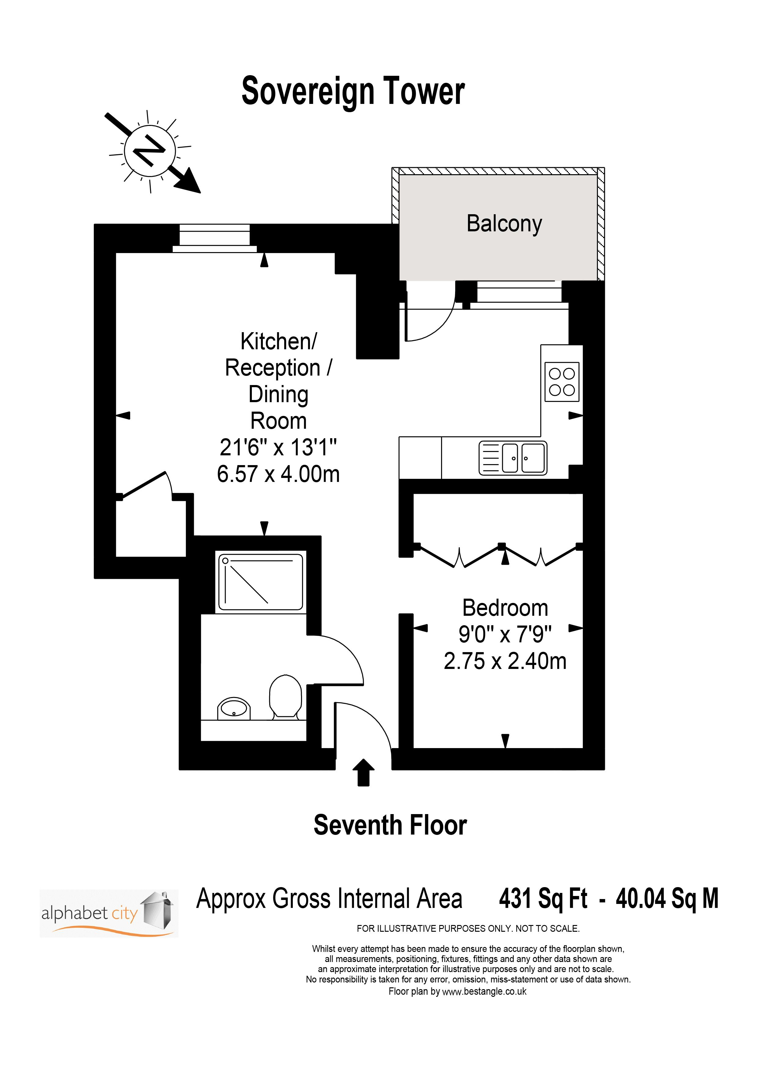 706 Sovereign Tower Floor plan