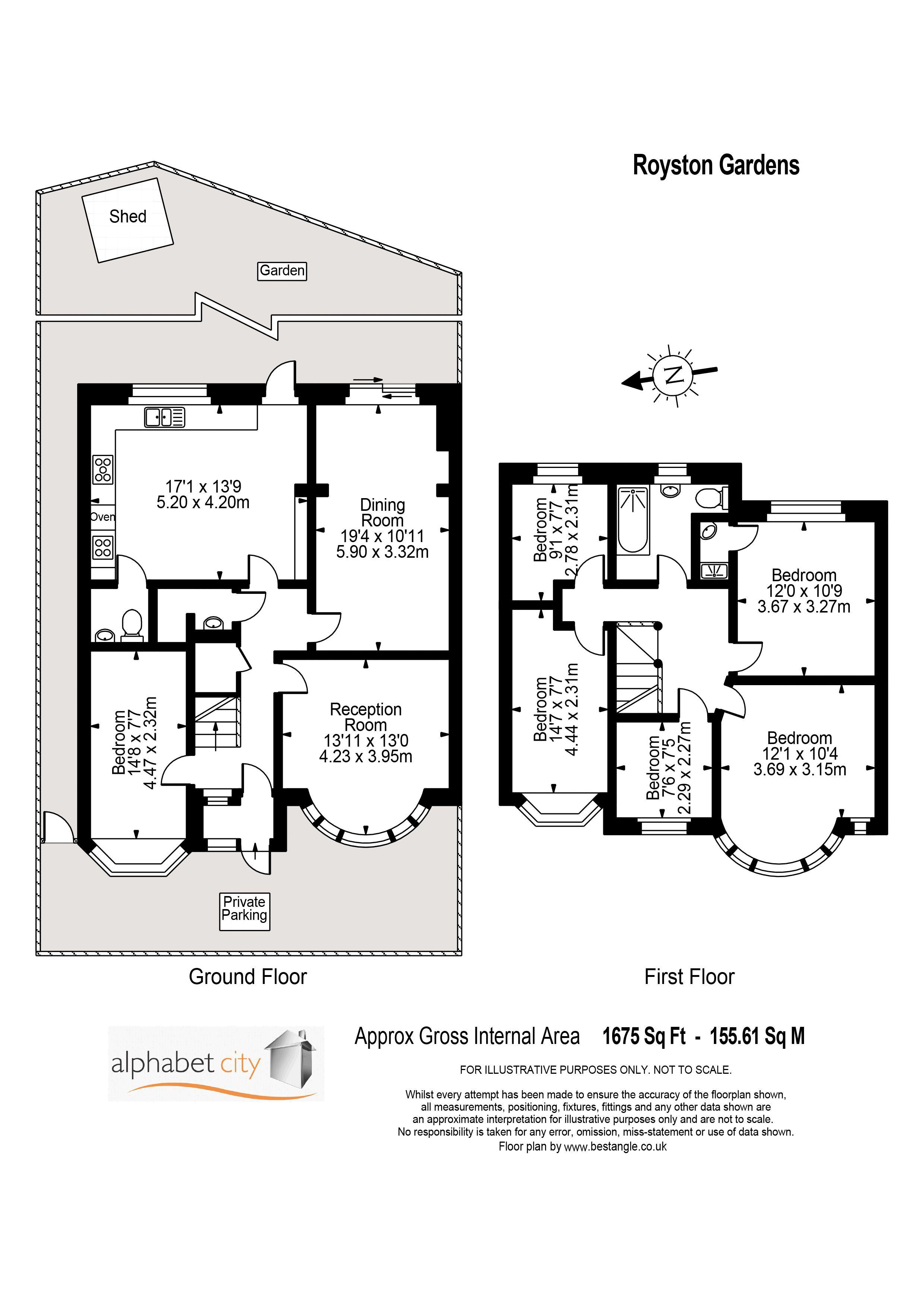Floor Plan - Royston Gardens, IG1 3SX