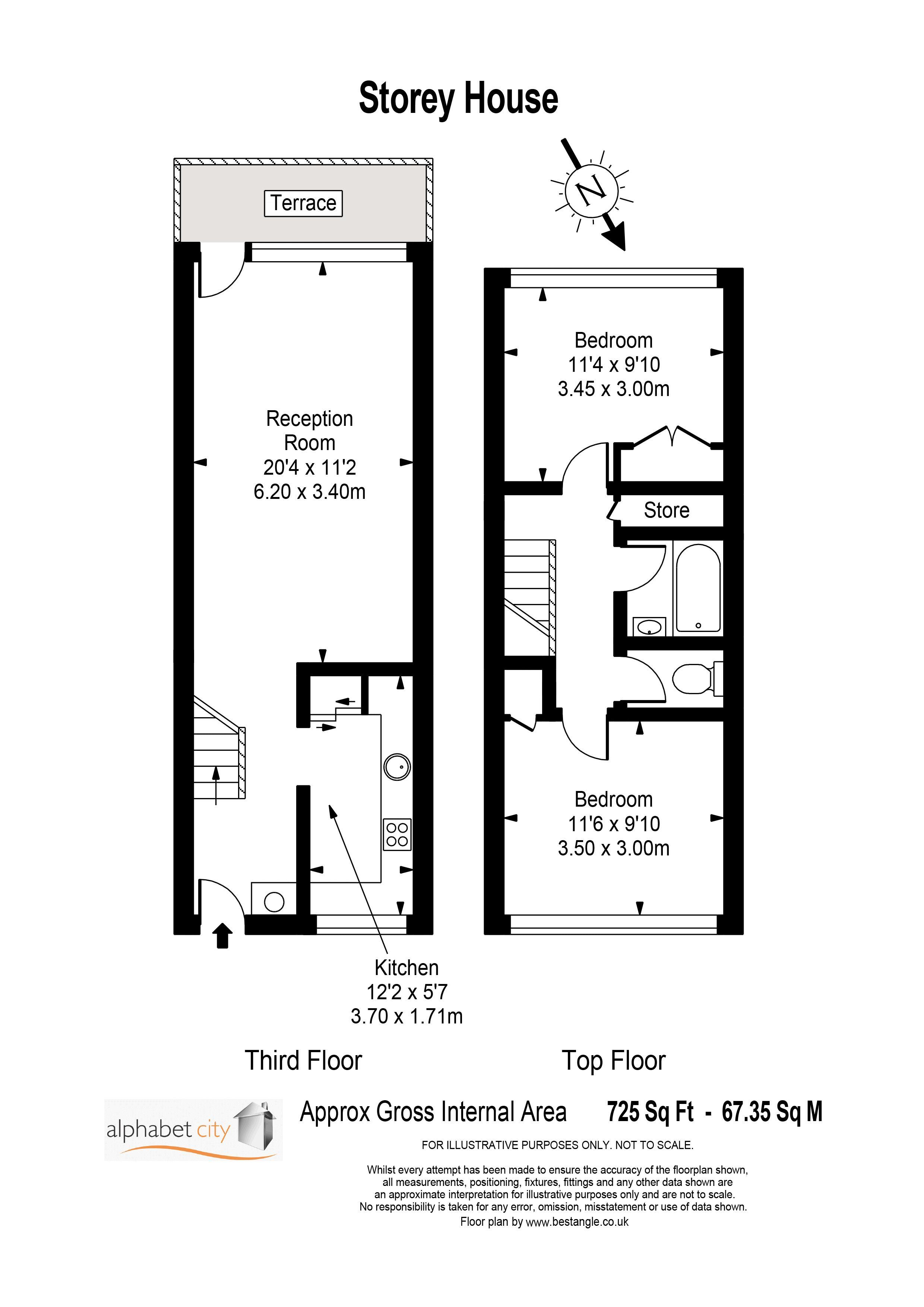 Storey House Floor Plan