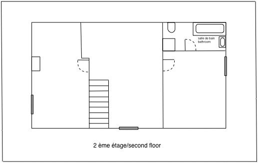 Second floor - not to scale