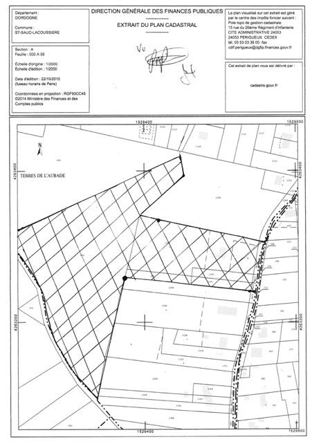 Cadastral plan of the property