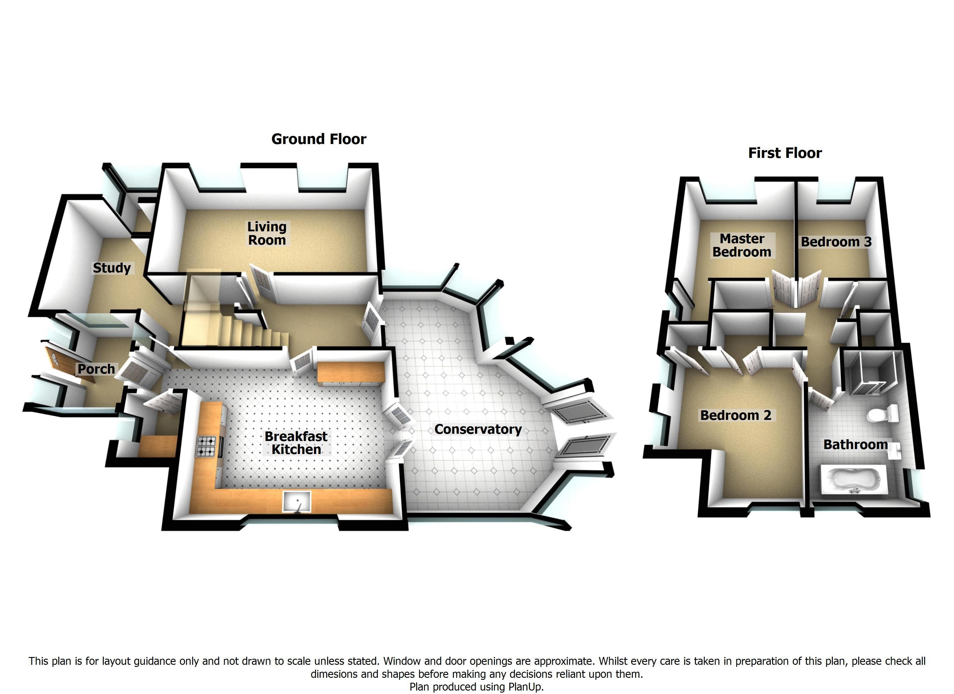 3-D floorplan