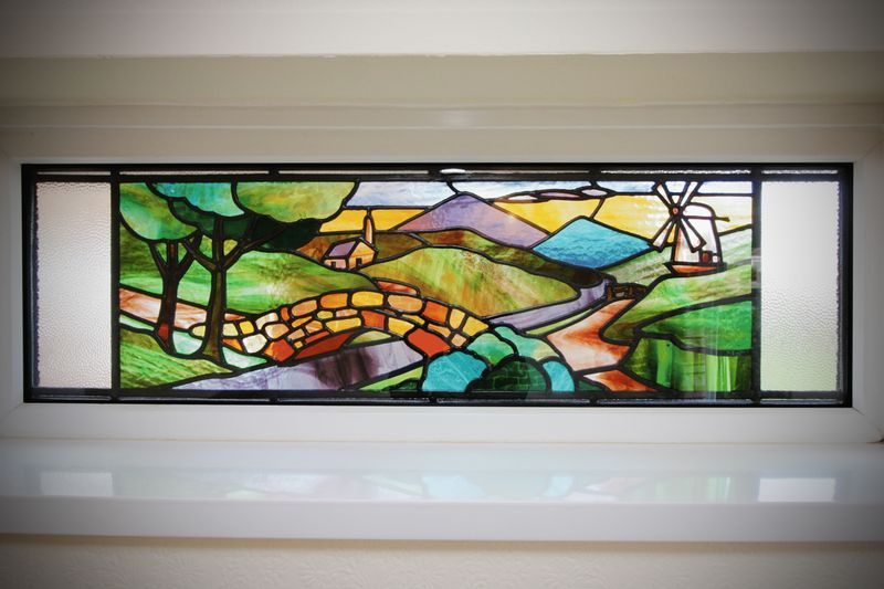 Original Stained Glass Window Encapsulated In NEW