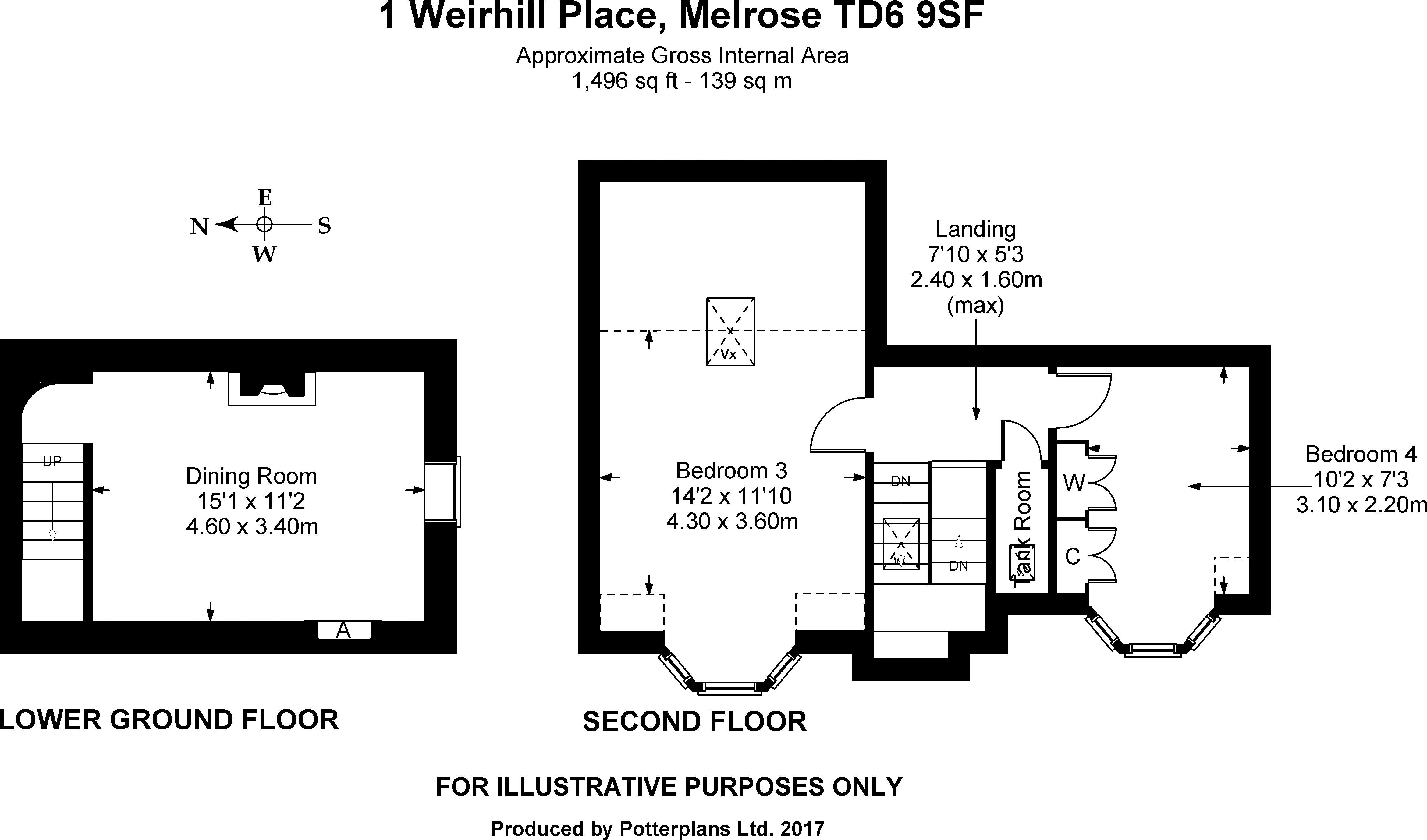 1 Weirhill Place 2nd Floor & Lower Ground Floor