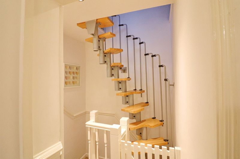 Spiral Staircase To Converted Loft