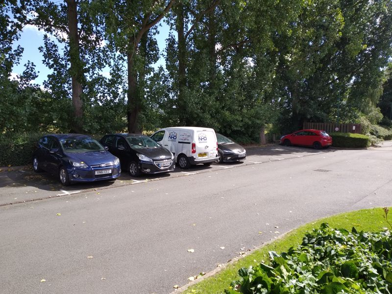 Parking opposite property