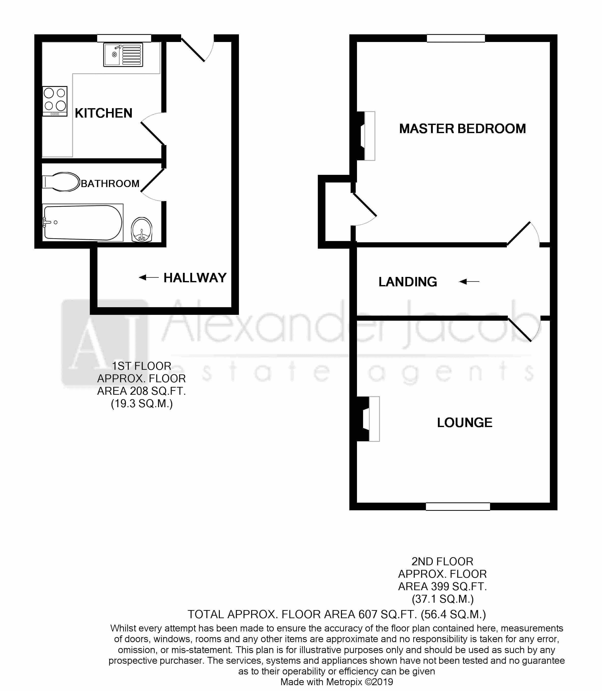 Upstairs Apartment Floorplan