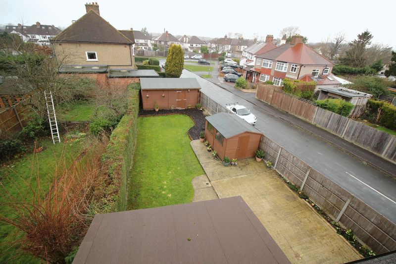 REAR GARDEN VIEW FROM TOP FLOOR