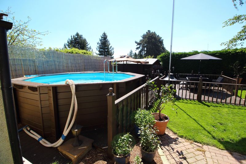 REAR GARDEN WITH POOL