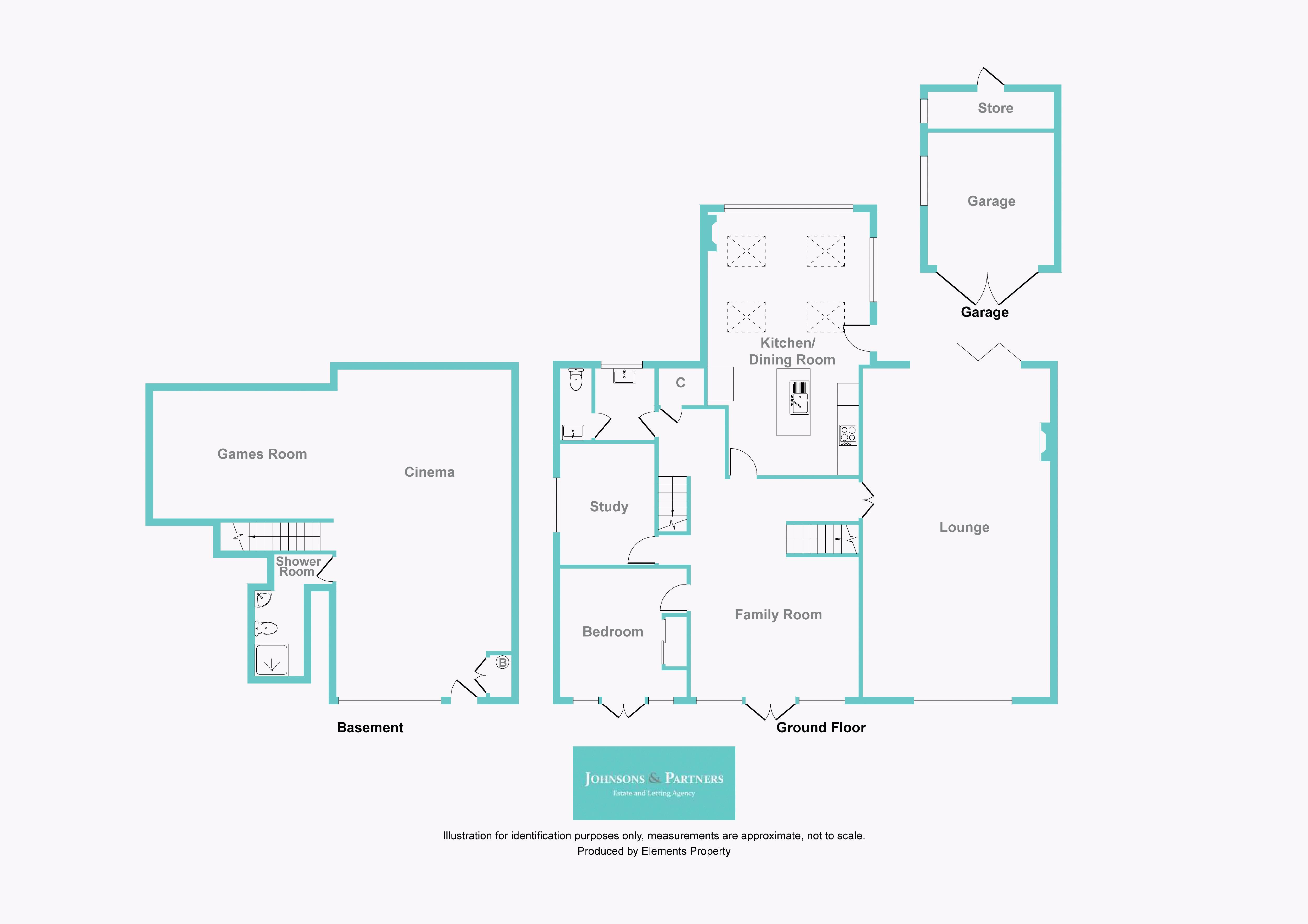 Basement - Ground Floor