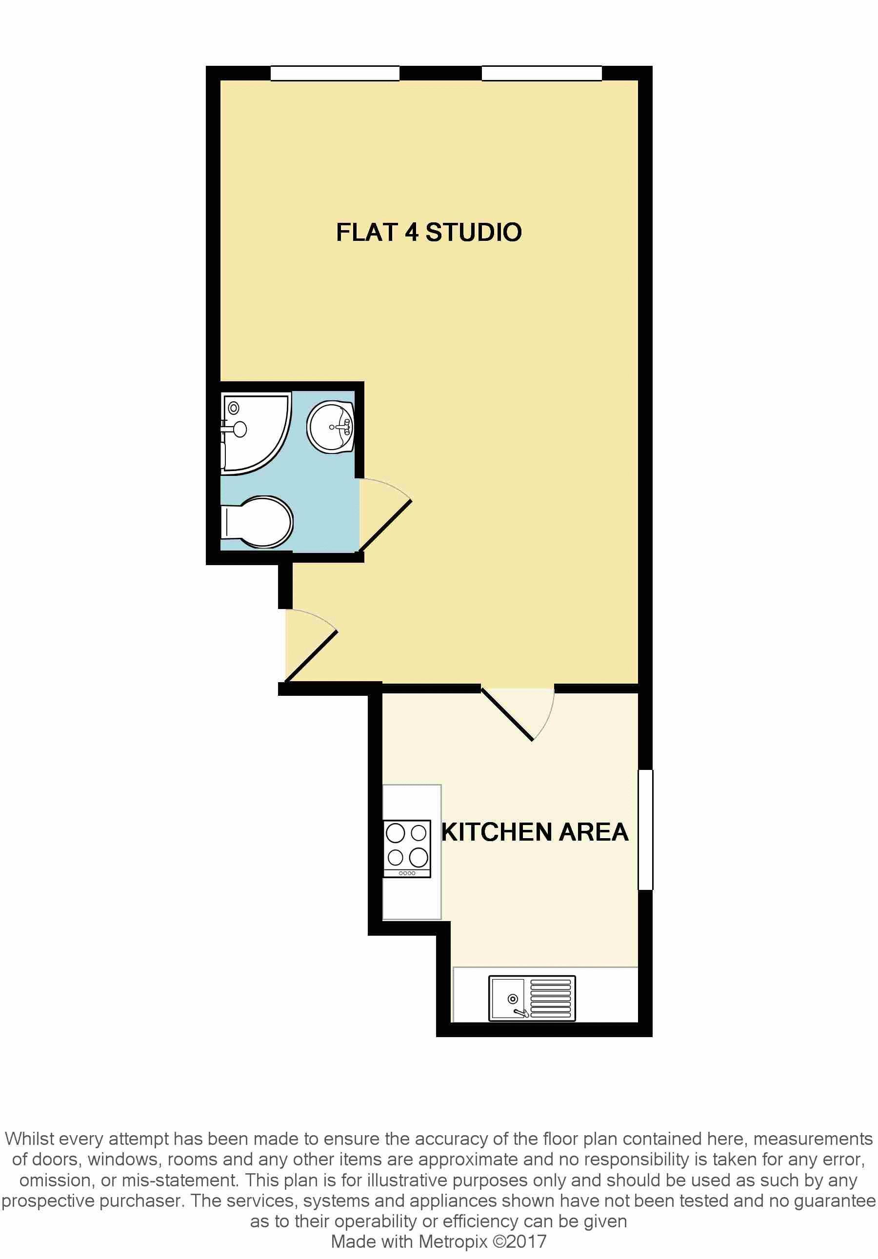 136 137 Studio Flat 4