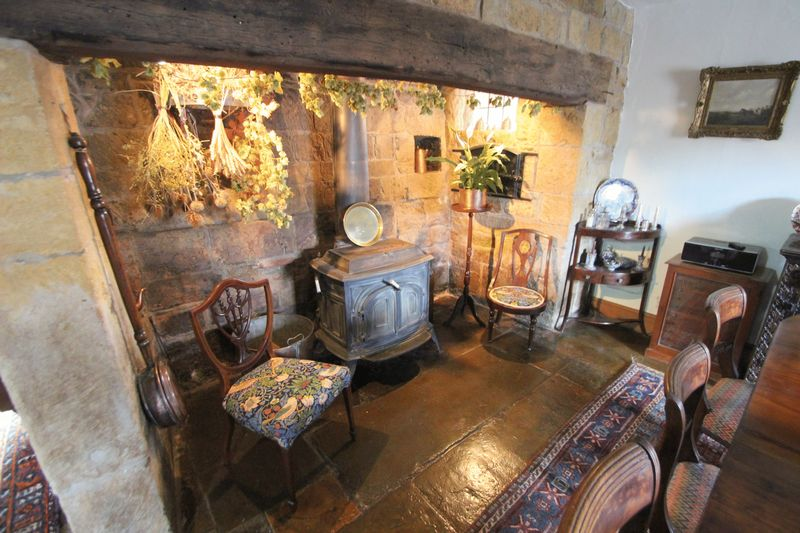 Inglenook with Log Burner