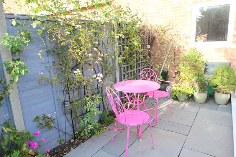 Seating area within rear garden