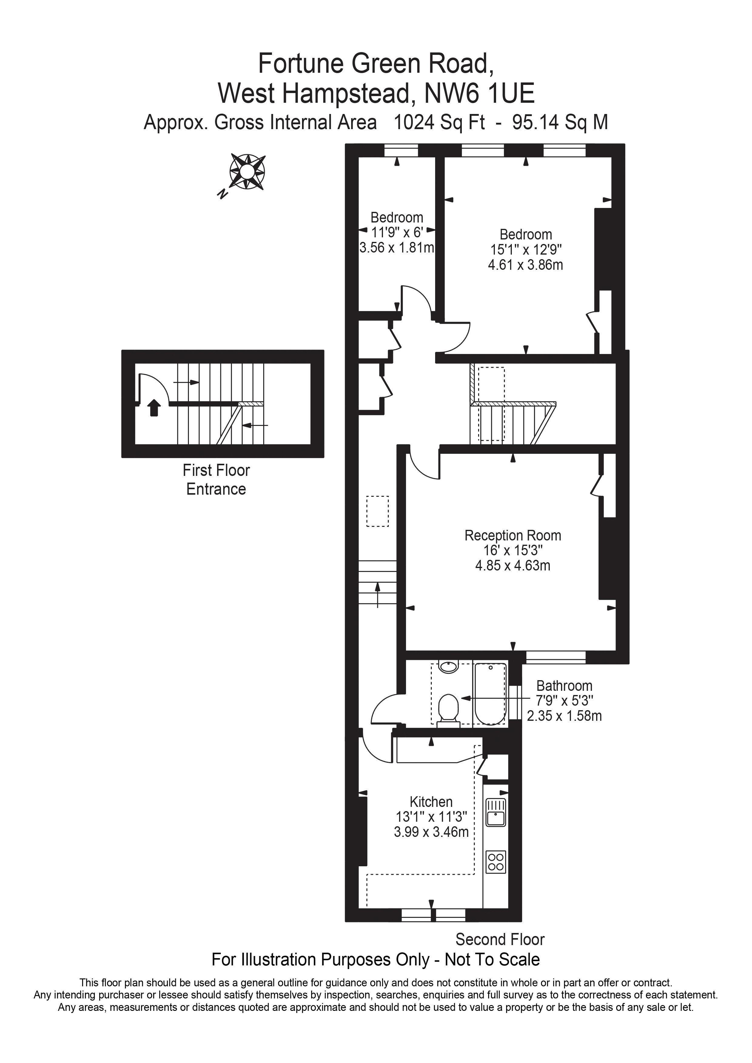 Floorplan - 24C Fortune Green Road