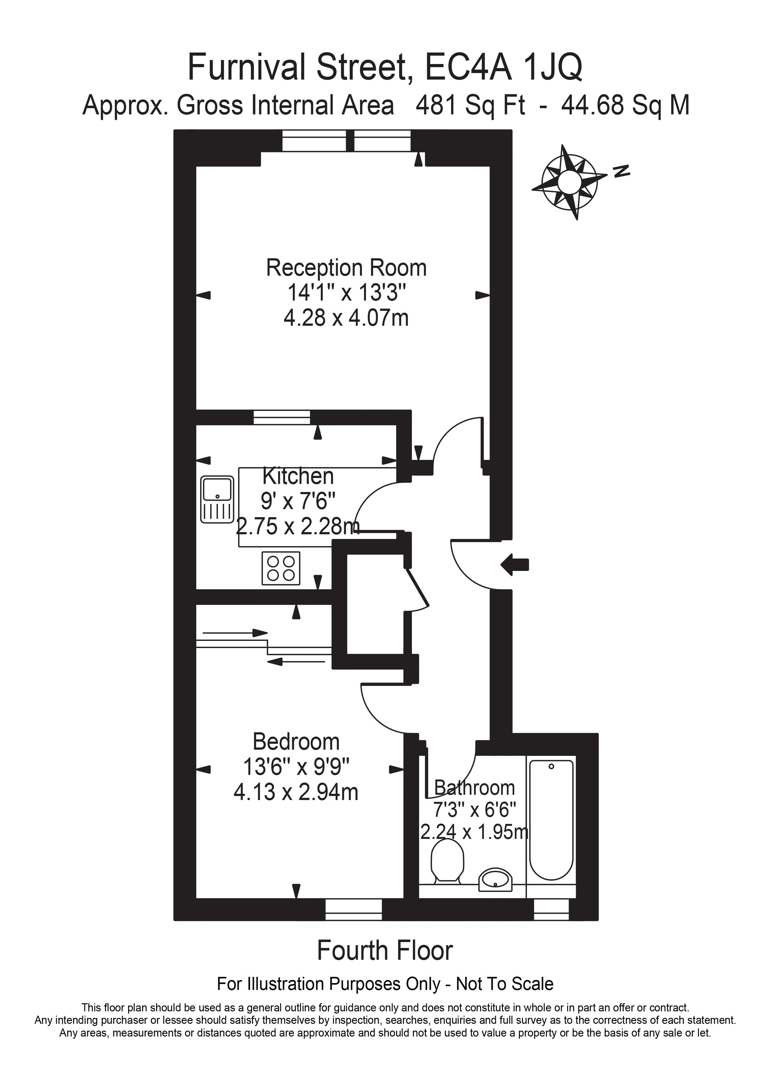 Floorplan - Flat 12, 35 Furnival Street