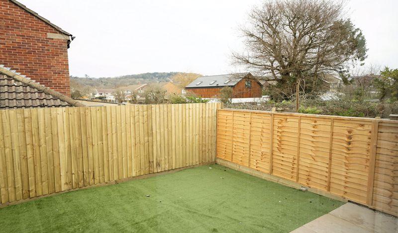 Rear garden and outlook