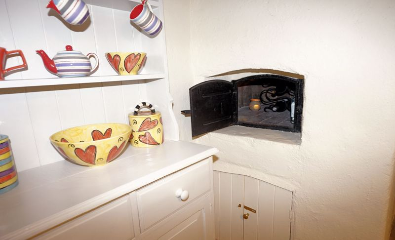 Inglenook with bread oven