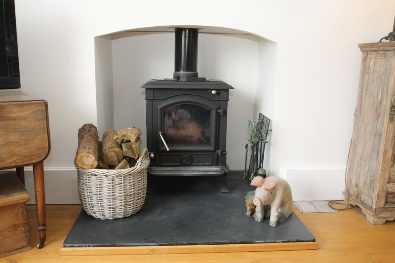 Stove in sitting room