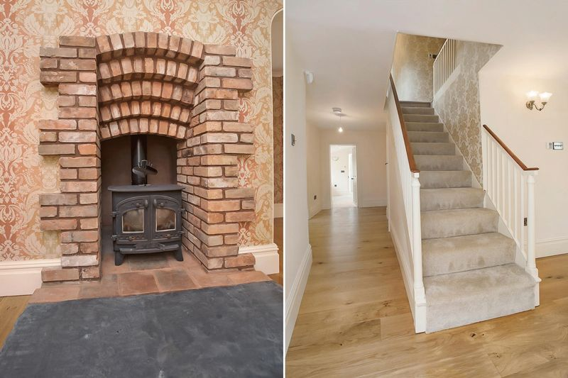 Fireplace/Staircase
