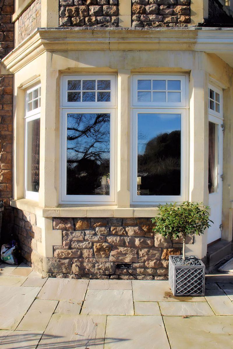 New windows and stone work