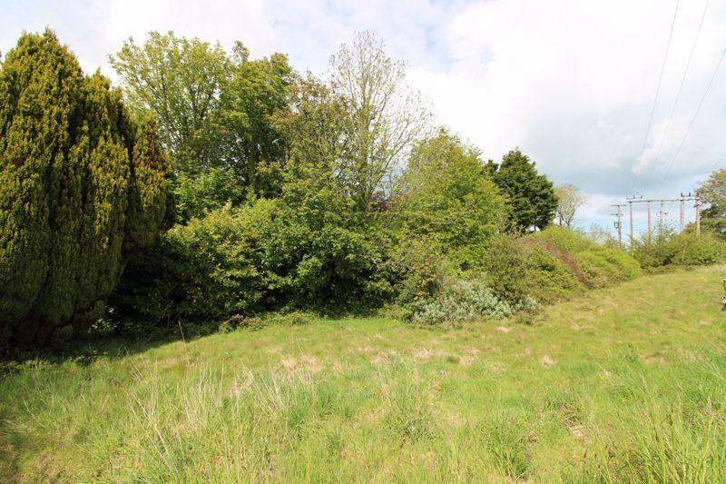 Back of garden adjacent to field